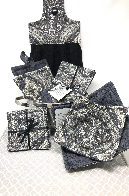 Wedding Bridal Shower Gift Set for Farmhouse Kitchen Gray Kitchen