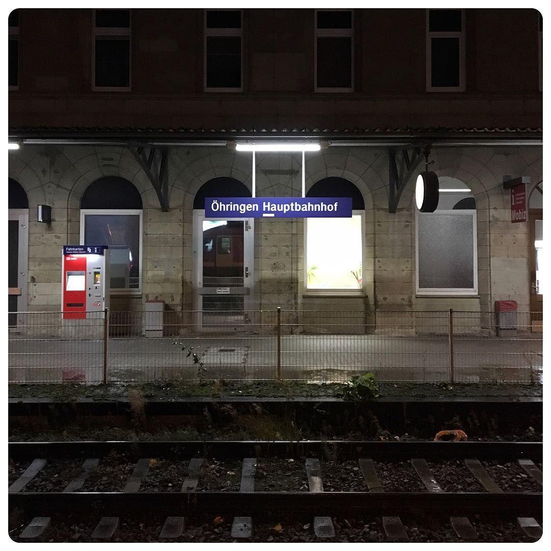 Final train ride today; from here towards Waldenburg.  #Öhringen #Bahnhof