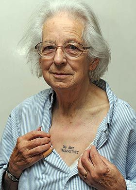 Gran Has Tattoos Ordering Doctors Not To Save Her Life