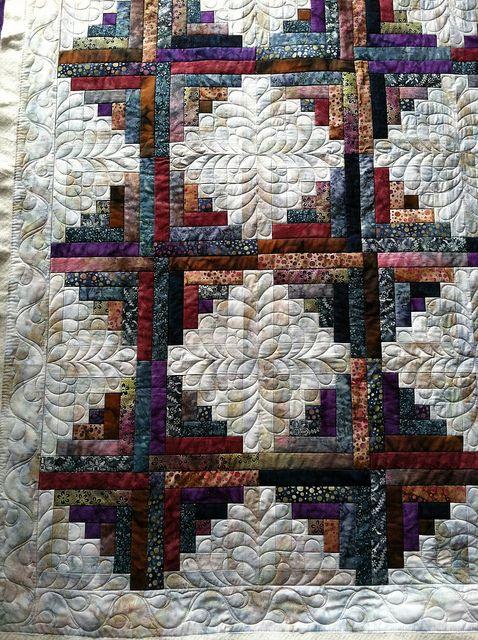 Detail to quilt my batik log cabin!