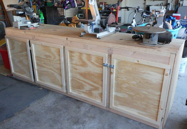 Projects Cheap Workbench Build 130 Diy Cabinet Doors