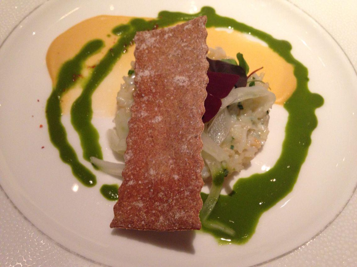 Dorset Crab Salad, fennel, sorrel & rye starter  Roux at Landau
