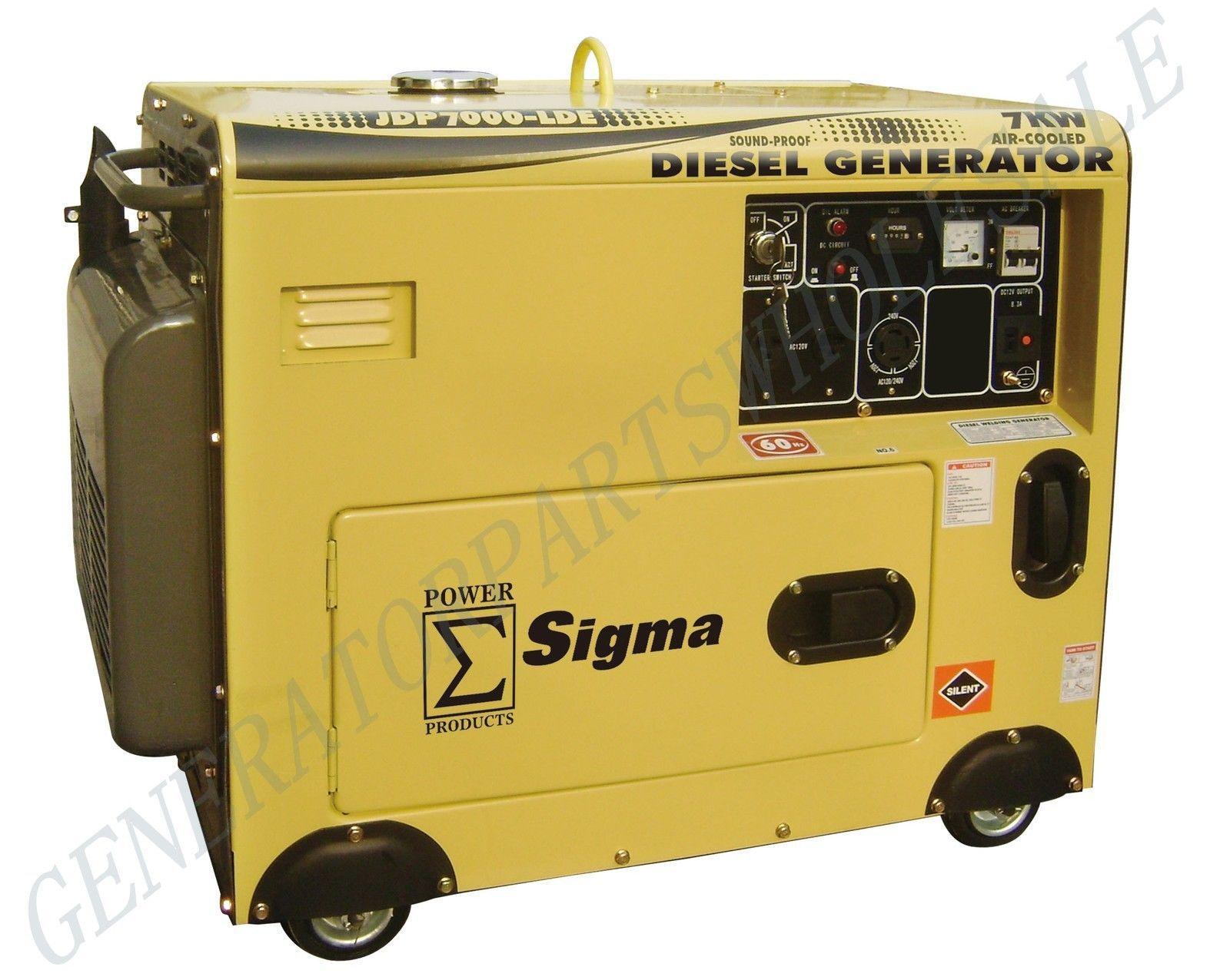 Sigma 7000 Watt Silent Diesel Generator Electric Start In