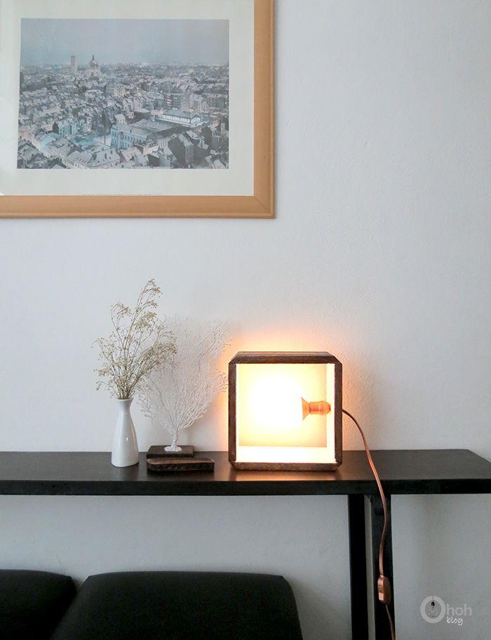 DIY Lámpara Cubo ohohblog | Lámpara diy, Lámparas viejas