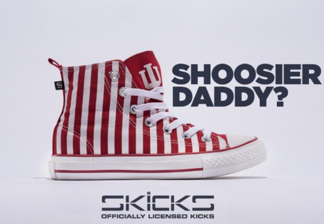 SKICKS- Shoosier Daddy? Indiana Striped High-Tops