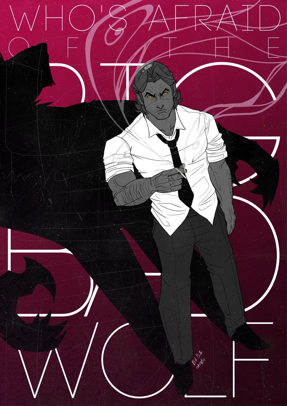 Who S Afraid Of The Big Bad Wolf Anime Wolf The Wolf Among Us Anime Guys