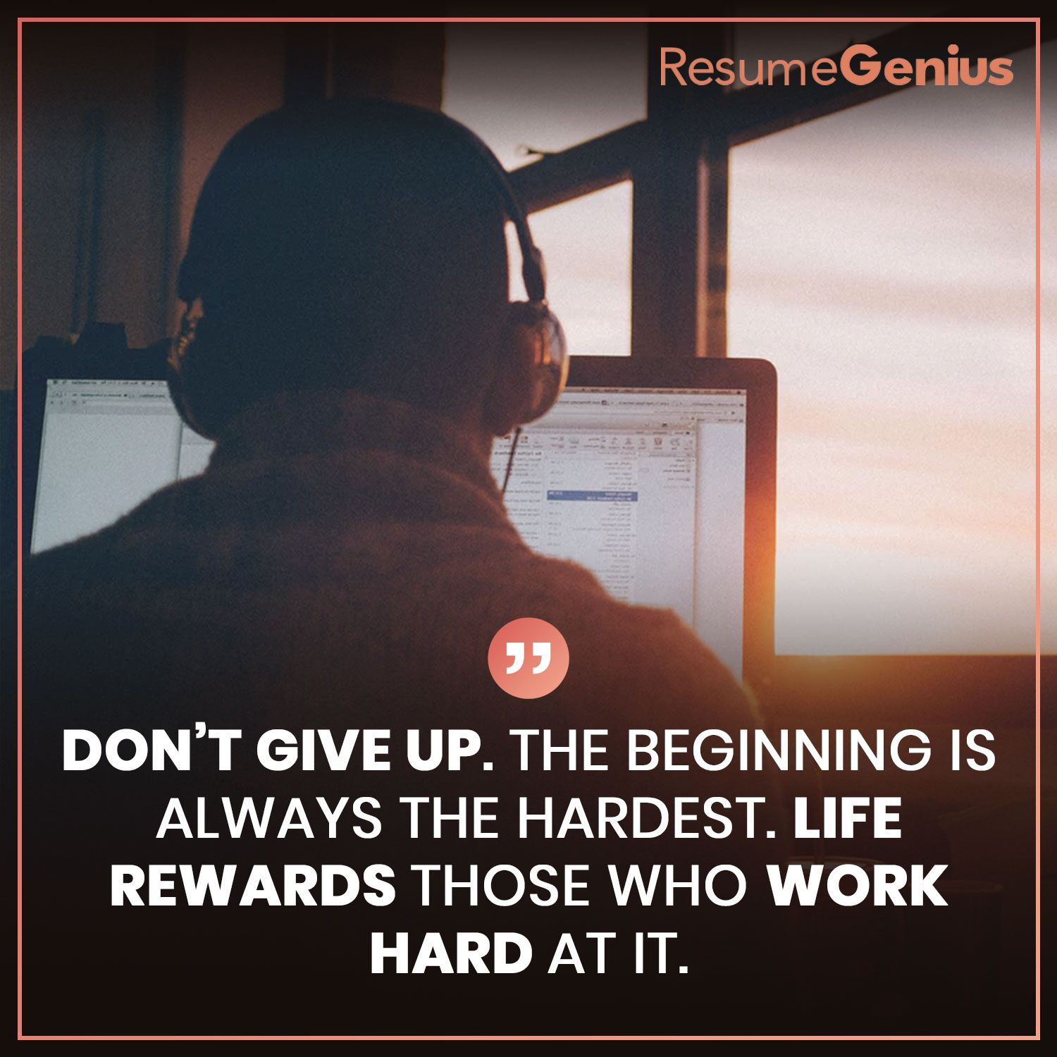 Don T Give Up The Beginning Is Always The Hardest Life Rewards
