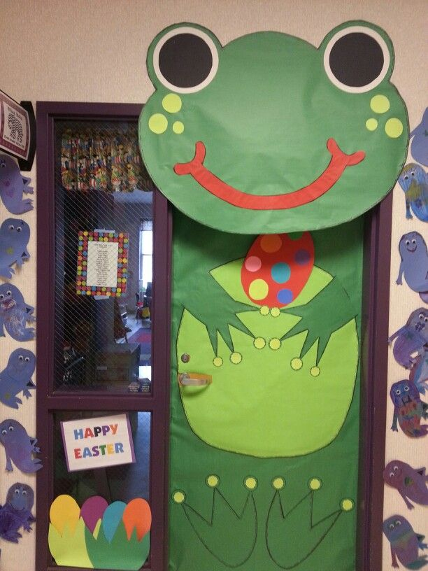 Frog Classroom Decoration Ideas ~ Easter frog classroom door april pinterest