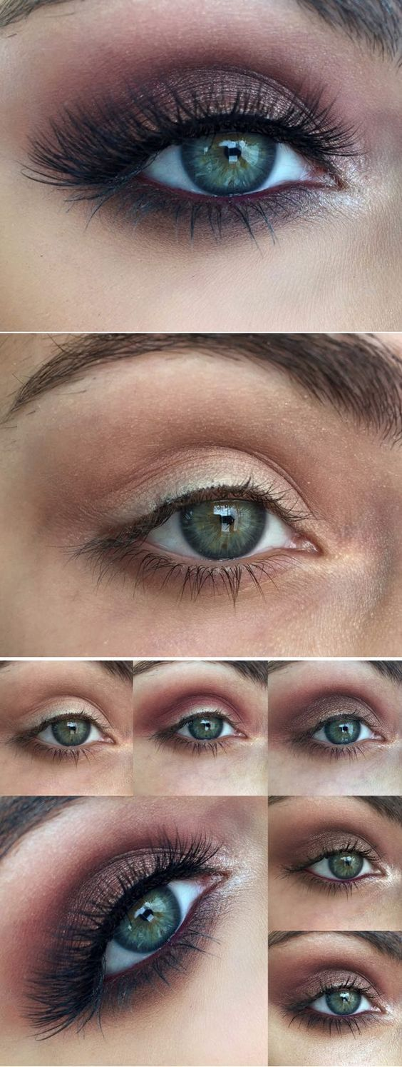 Makeup tutorials for blue eyes vampy tutorial for blue eyes easy