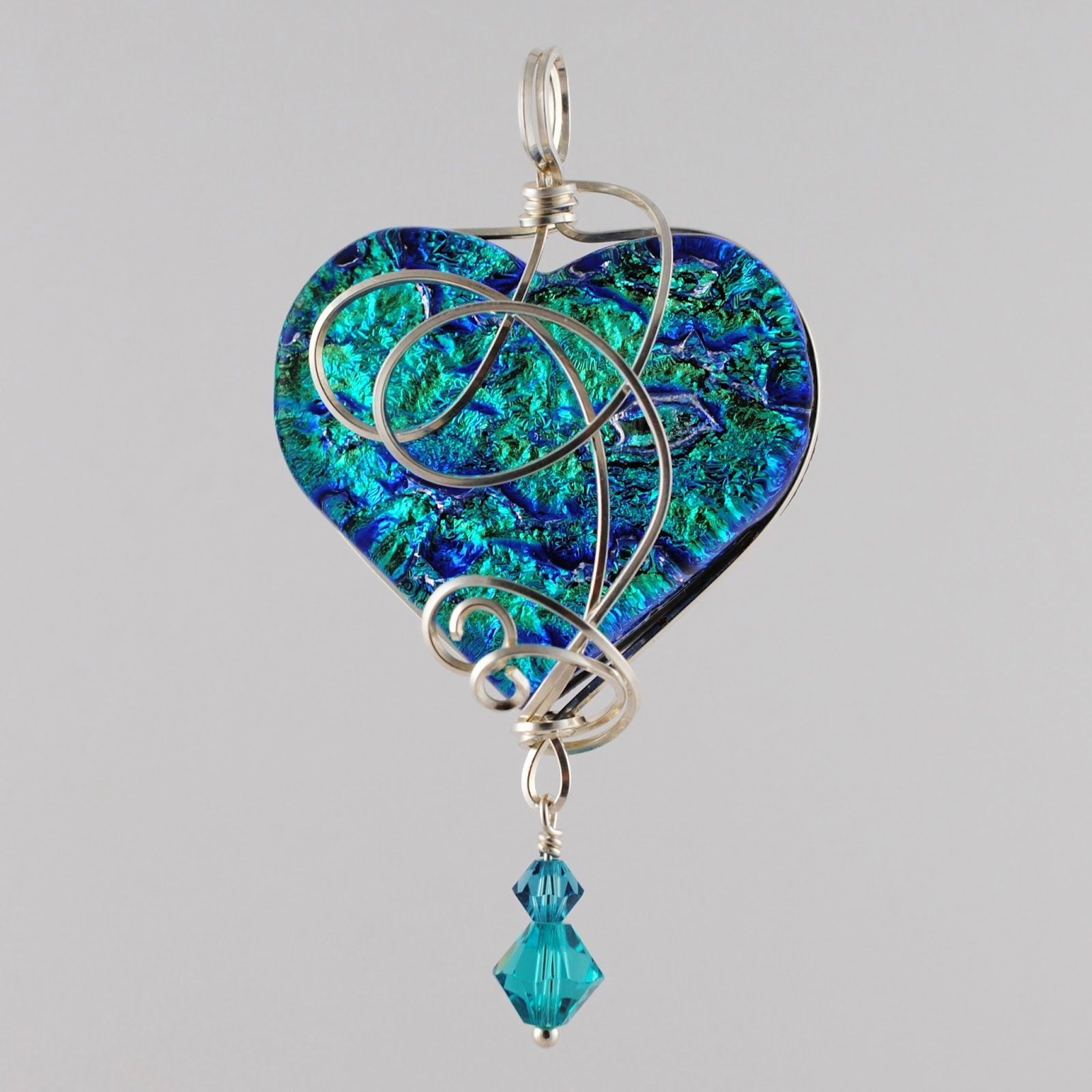 wire wrapped pendant | ... Glass Blog: Whats New: Wire Wrapped Fused ...