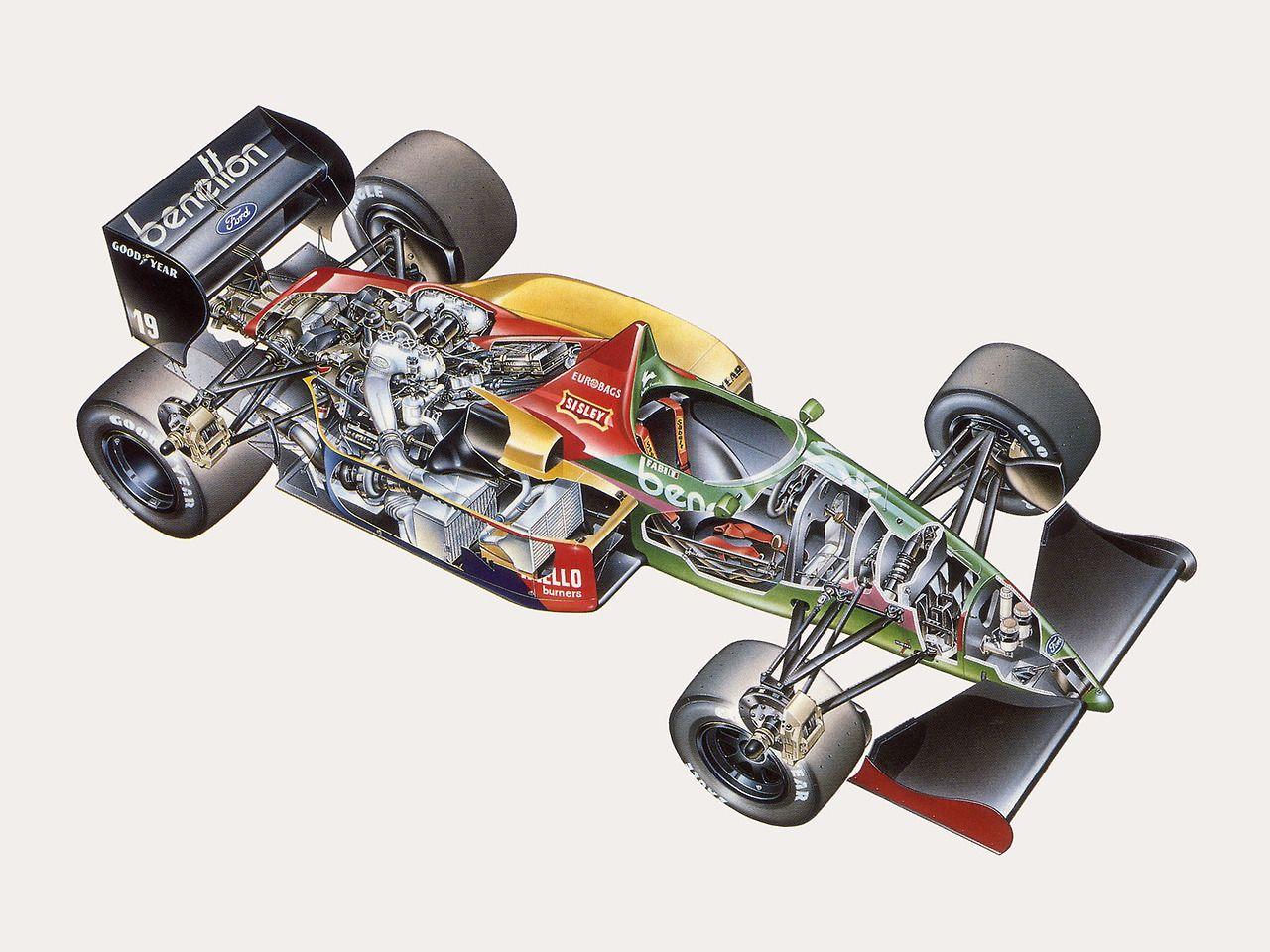 B187 race car cutaway Formule 1, Ricardo, Formule