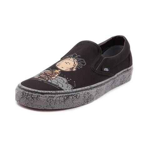 p Get down and dirty with the new Slip On Peanuts Pig-Pen Skate Shoe from  Vans! These slip on skate shoes feature everyone s favorite dust magnet on  a ... e1c0260df