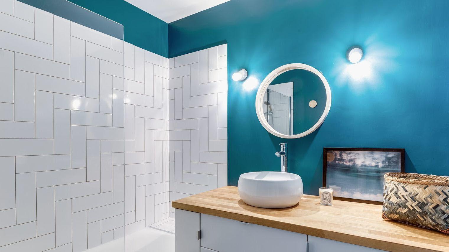 Peinture Salle De Bain 40 Idees De Couleurs Pour Une Deco Tendance Diy Bathroom Decor Creative Bathroom Design Painting Bathroom