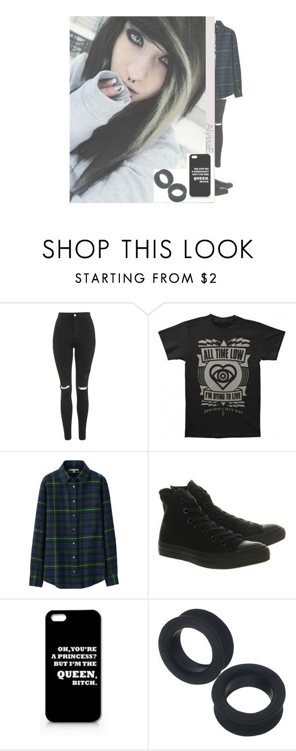 """""""- Ava -"""" by an0ns-f0r-life122 ❤ liked on Polyvore featuring beauty, Topshop, Uniqlo and Converse"""