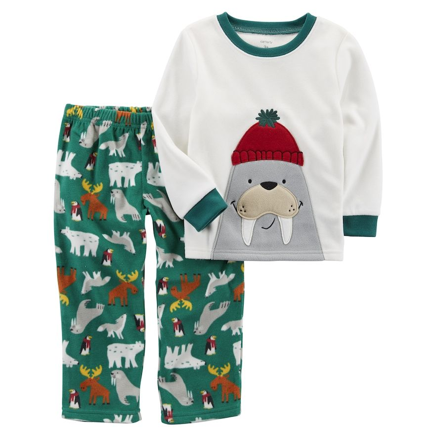 29040db0a Boys 4-8 Carter s Wallrus 2-Piece Fleece Pajama Set