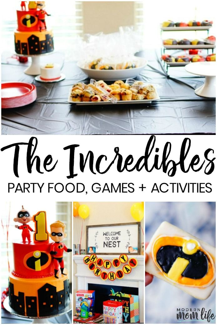 10 of the Best Disney's Incredibles Party Ideas is part of Of The Best Disneys Incredibles Party Ideas Modern Mom Life - Looking for Incredibles party ideas to celebrate a special occasion  Our family recently hosted an Incredibles birthday party for our own Baby JackJack! Our Disney Pixar inspired party was filled with fun decor items, tasty treats