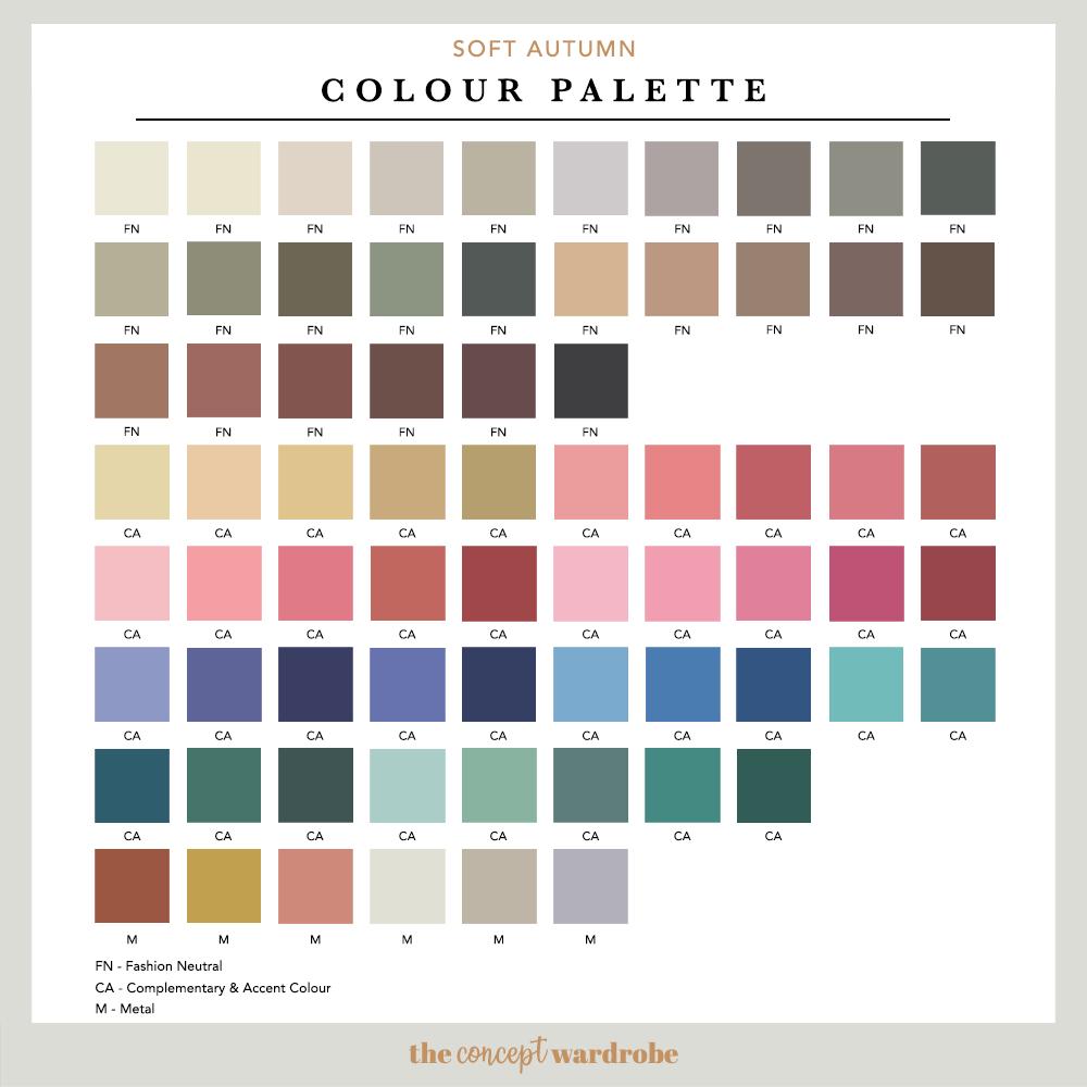 SOFT AUTUMN   Colour Palette