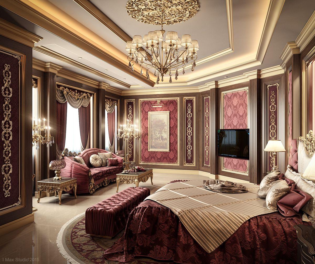 Luxury Master Bedroom Dubai On Behance: Luxurious Bedrooms, Royal Room