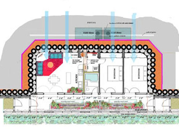 EARTHSHIP KARUNA | A SELF SUFFICIENT AND SUSTAINABLE OFF ... on green home plans, self-sufficient home plans, earthship 3-bedroom plans, survival home plans, luxury earthship plans, castle earthship plans, earthship construction plans, classic home plans, earthship building plans, straw homes or cottage plans, zero energy home plans, off the grid home plans, new country home plans, one-bedroom cottage home plans, permaculture home plans, three story home plans, earth home plans, organic home plans, floor plans,