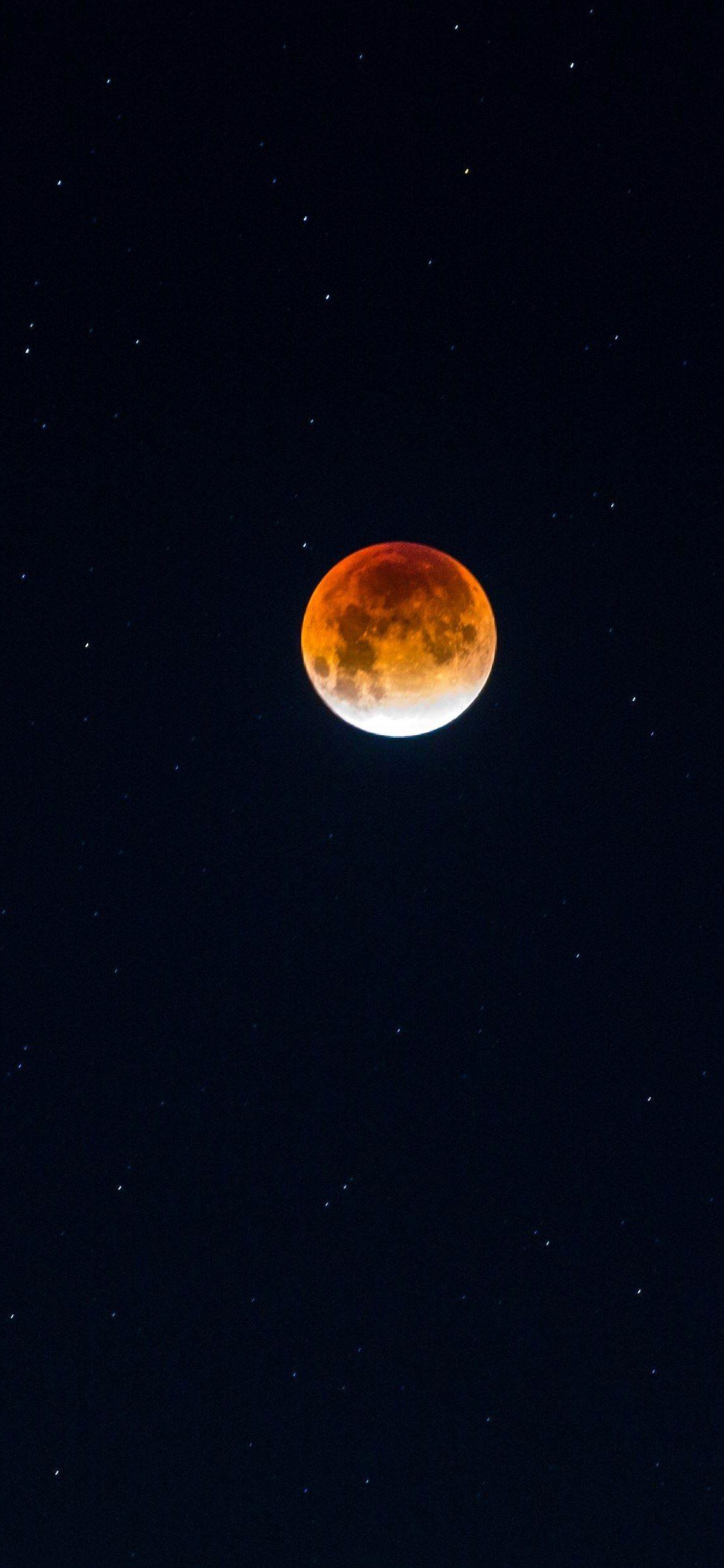 Iphone X Wallpaper Moon full moon red moon Hd in 2020