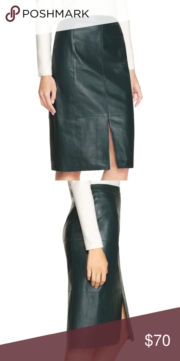 71e6b430a NWT Black House White Market Leather Pencil Skirt We started with a classic pencil  skirt,