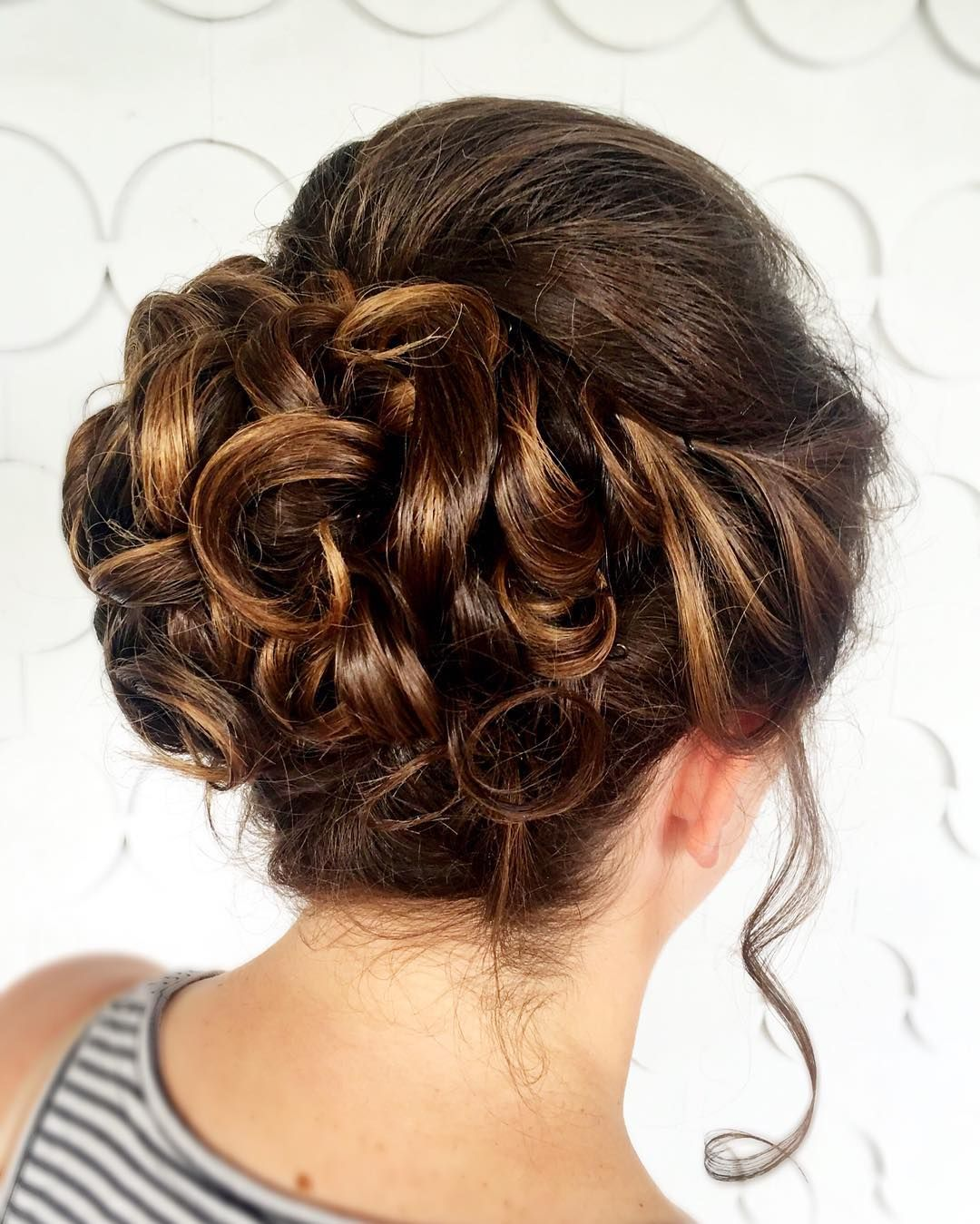 Hairstyle glory by Elena! Soft curls make the most romantic updos!  #updo #gorgeous  #hairstyle #lovely #thatsdarling