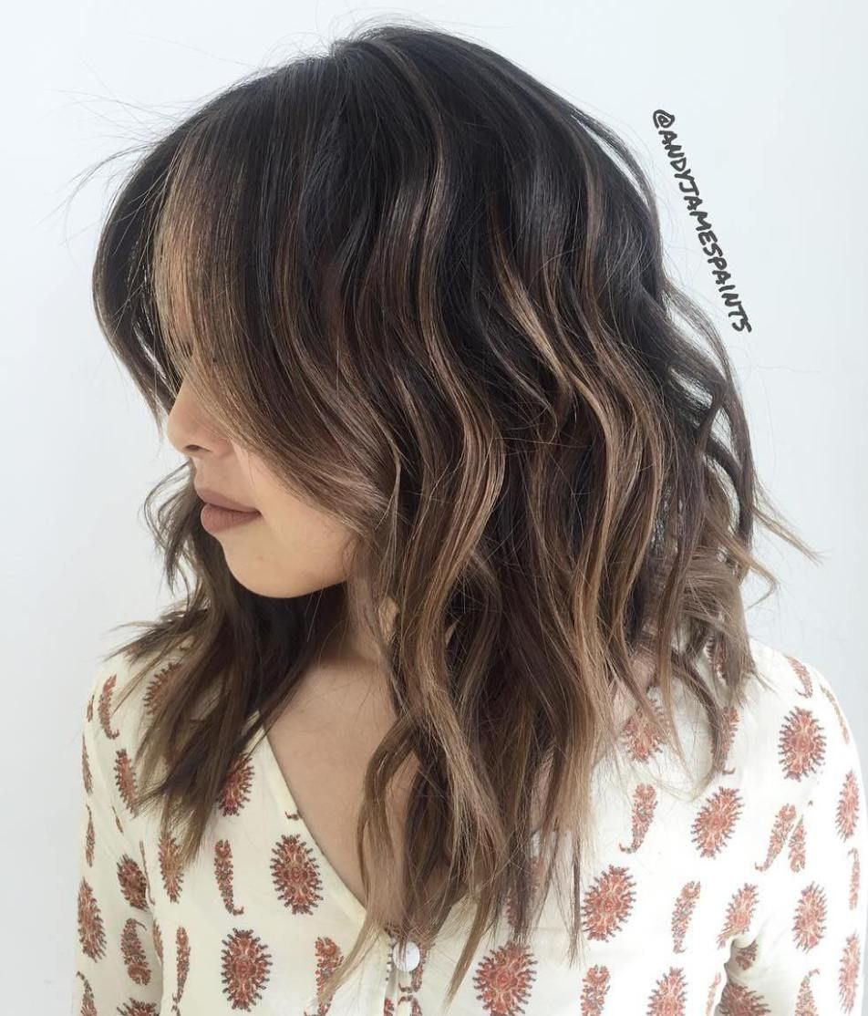 Mid-Length Messy Wavy Hairstyle | time for change | Pinterest | Hair ...