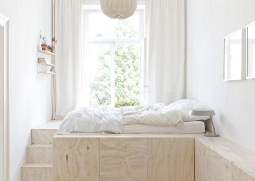 regardsetmaisons: La chambre estrade - astuce pour petit espace ...