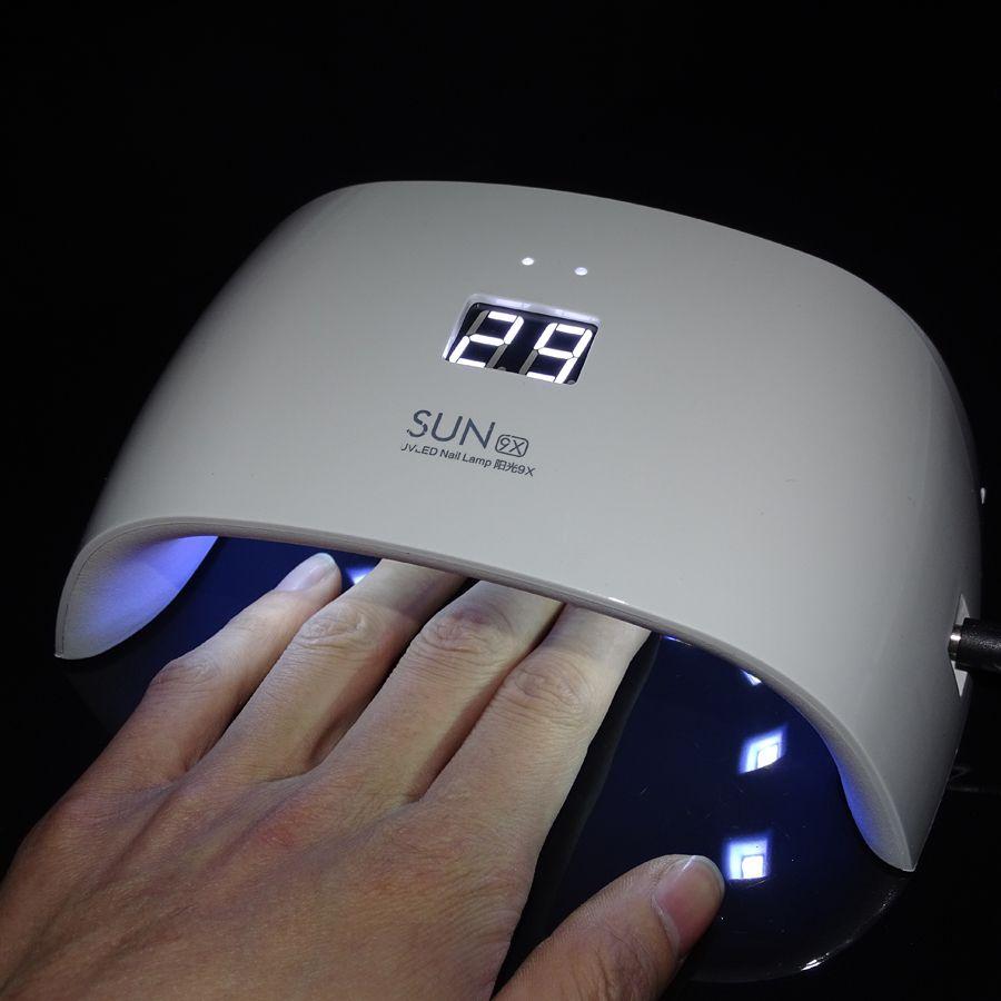 Sale Foeonco Sun9X 18W Uv Lamp For Nail Manicure White Light Timer ...