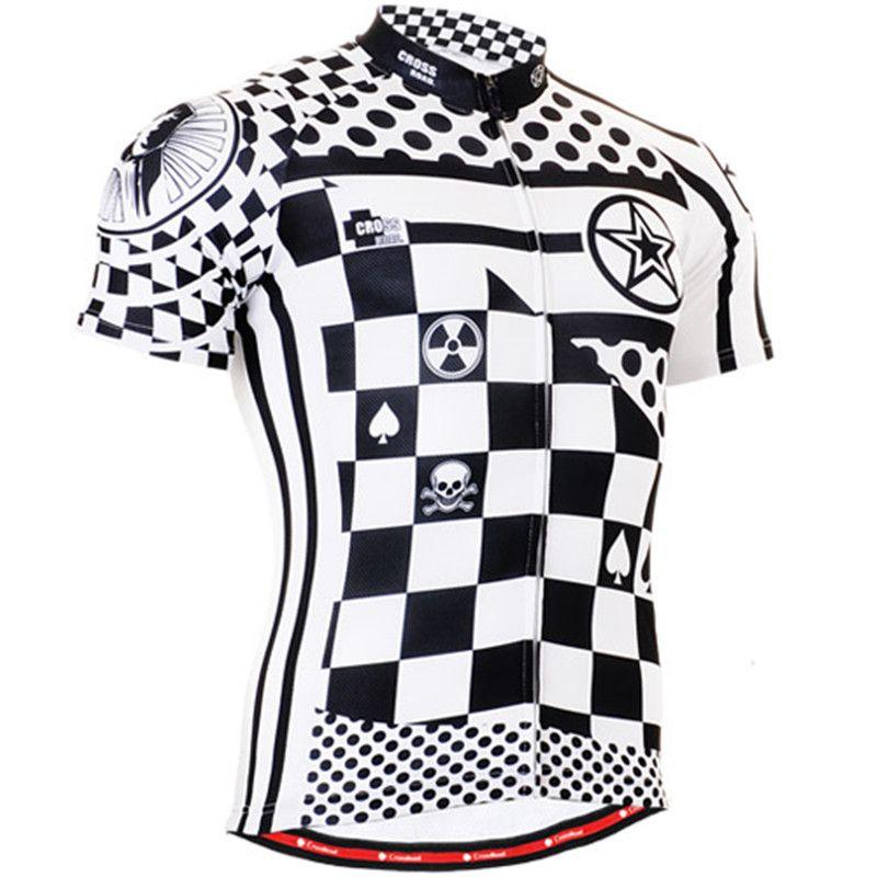Mens Cycling Jerseys Bicycle Clothings Chess Graphic Full Zipper Short  Sleeve MTB Bike Tops Shirts S 0e1d0d031