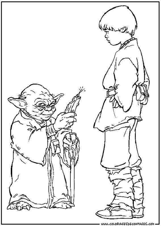 bildresultat fr coloring pages star wars - Coloriage Star Wars Imprimer
