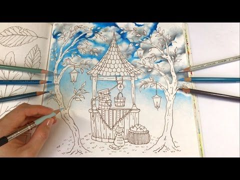 Make A Wish Part 1 Cloudy Sky Coloring Romantic Country A Fantasy Coloring Book Youtube Romantic Country Coloring Books Colorful Drawings