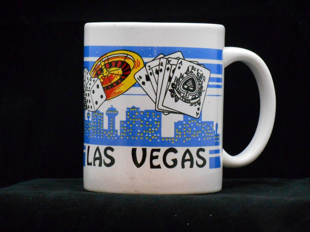 Las Vegas Coffee Mug Ceramic Roullete Wheel S City View