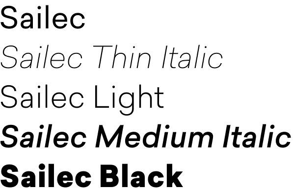 Sailec font attracts with pure lines and clean geometry | Fonts