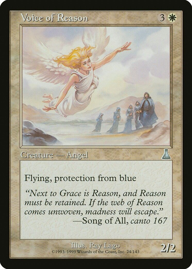 Voice of Grace Magic Card Urza/'s Saga MTG