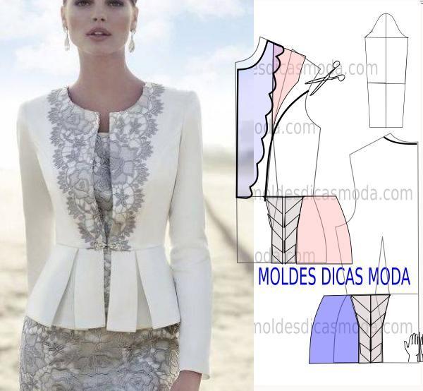 MOLDE DE BLUSA PEPLUM | Blusas, Molde y Costura