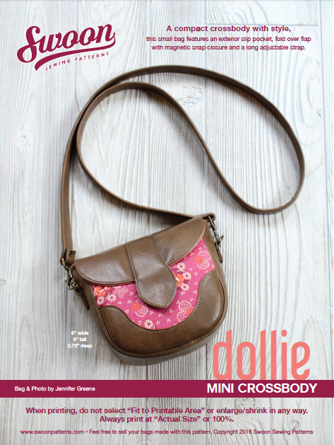 Free Sewing Pattern: Swoon Dollie Mini Crossbody | Swoon Patterns ...
