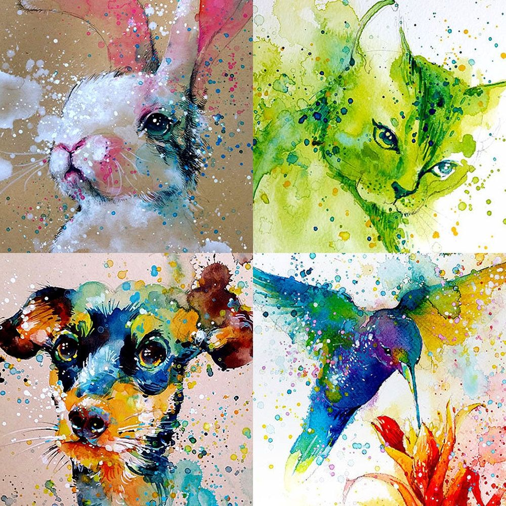 Splashed watercolour paintings that capture the energy of birds and ...