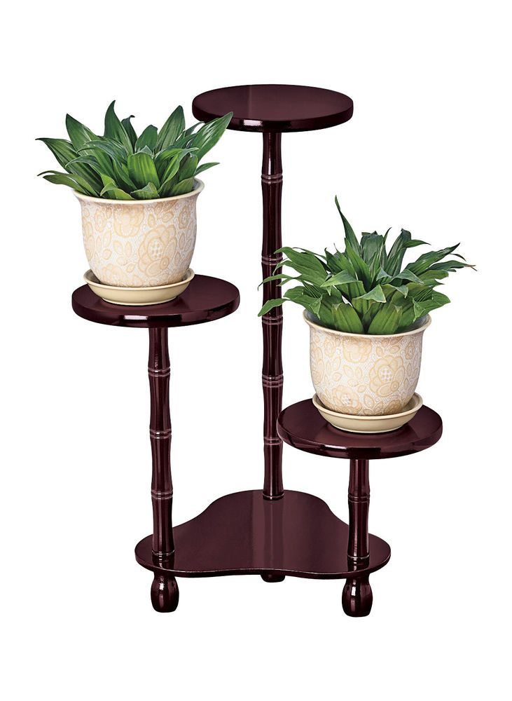 3 Tier Wood Plant Stand 21 Tall Wooden Unbranded