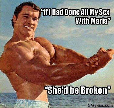 Arnold-Schwarzenegger-cheating-scandal-on-Maria-Meme Famous funny - fresh arnold blueprint day 11