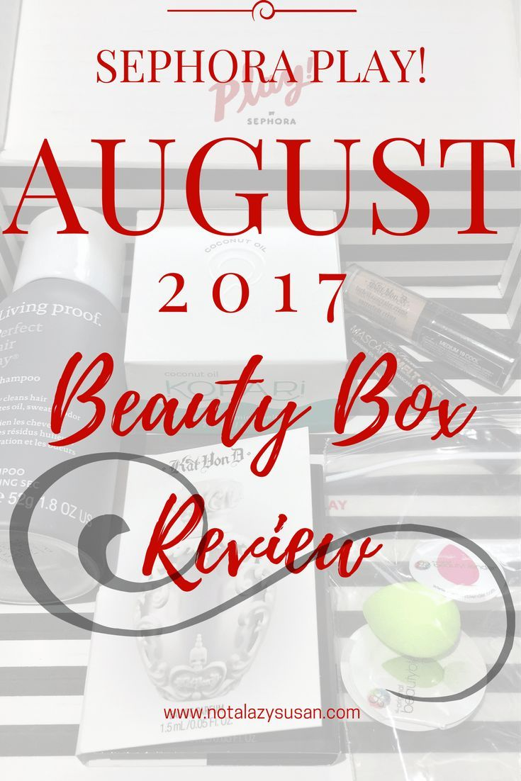Sephora Play! Beauty Box Review August 2017 Sephora play
