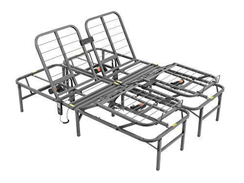 Steel Queen Size Split Adjustable Remote Electric Lift Bed Frame
