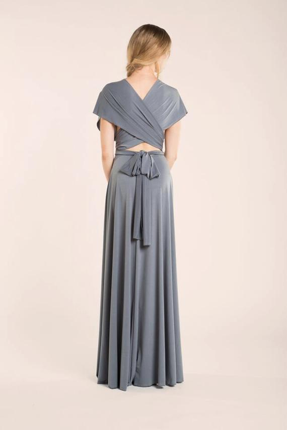 da16ea6f8b3 Gray bridesmaid dress