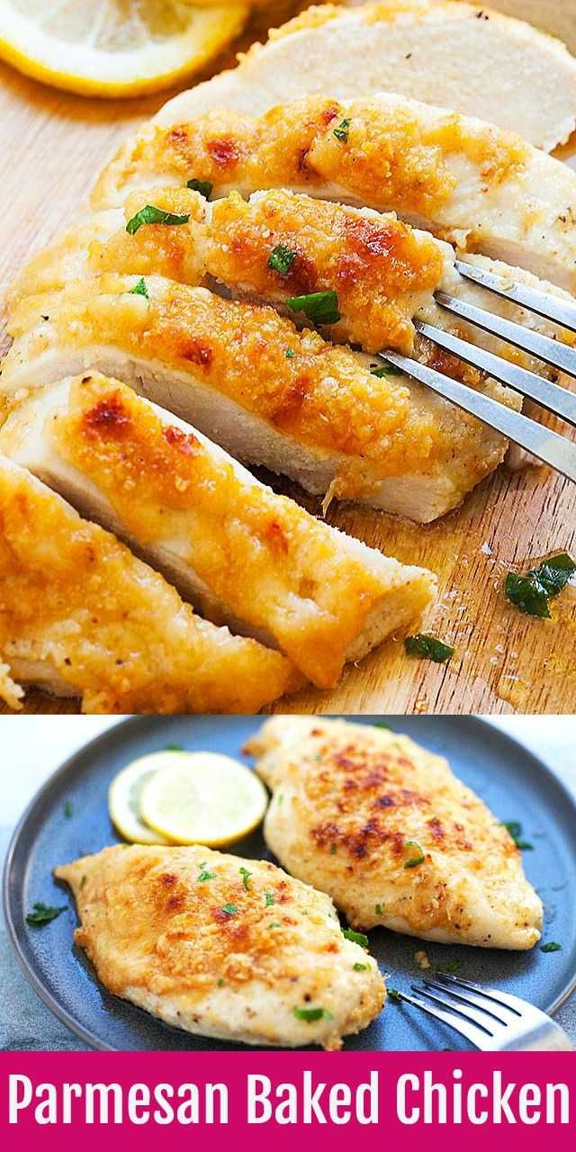 Chicken Breast Recipes - Baked Chicken Breast with Parmesan Cheese