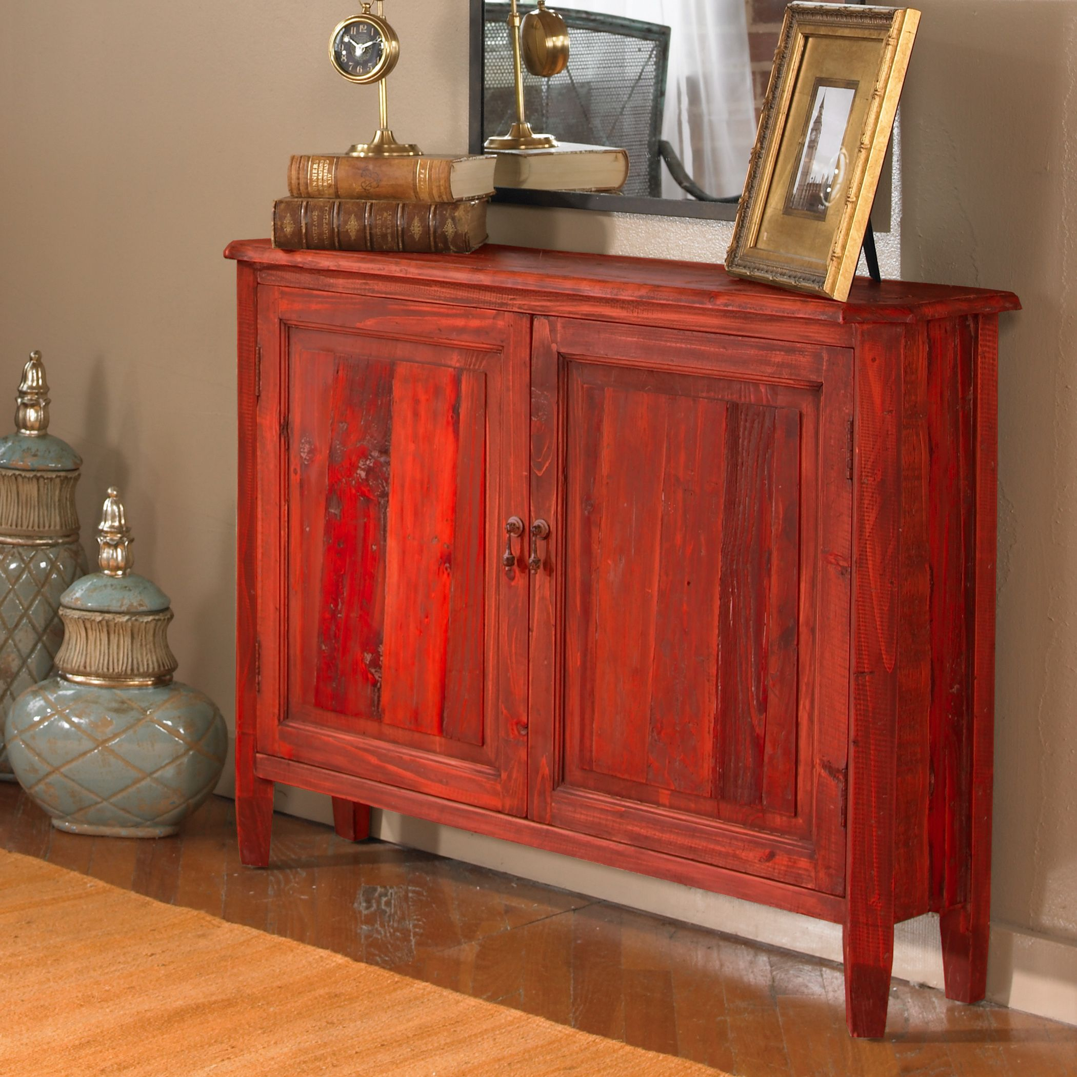 Uttermost Altair Red Console Cabinet