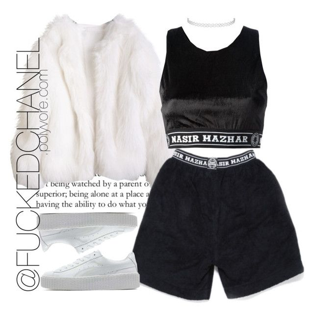 """•••"" by fuckedchanel ❤ liked on Polyvore featuring Nasir Mazhar, Puma and Topshop"