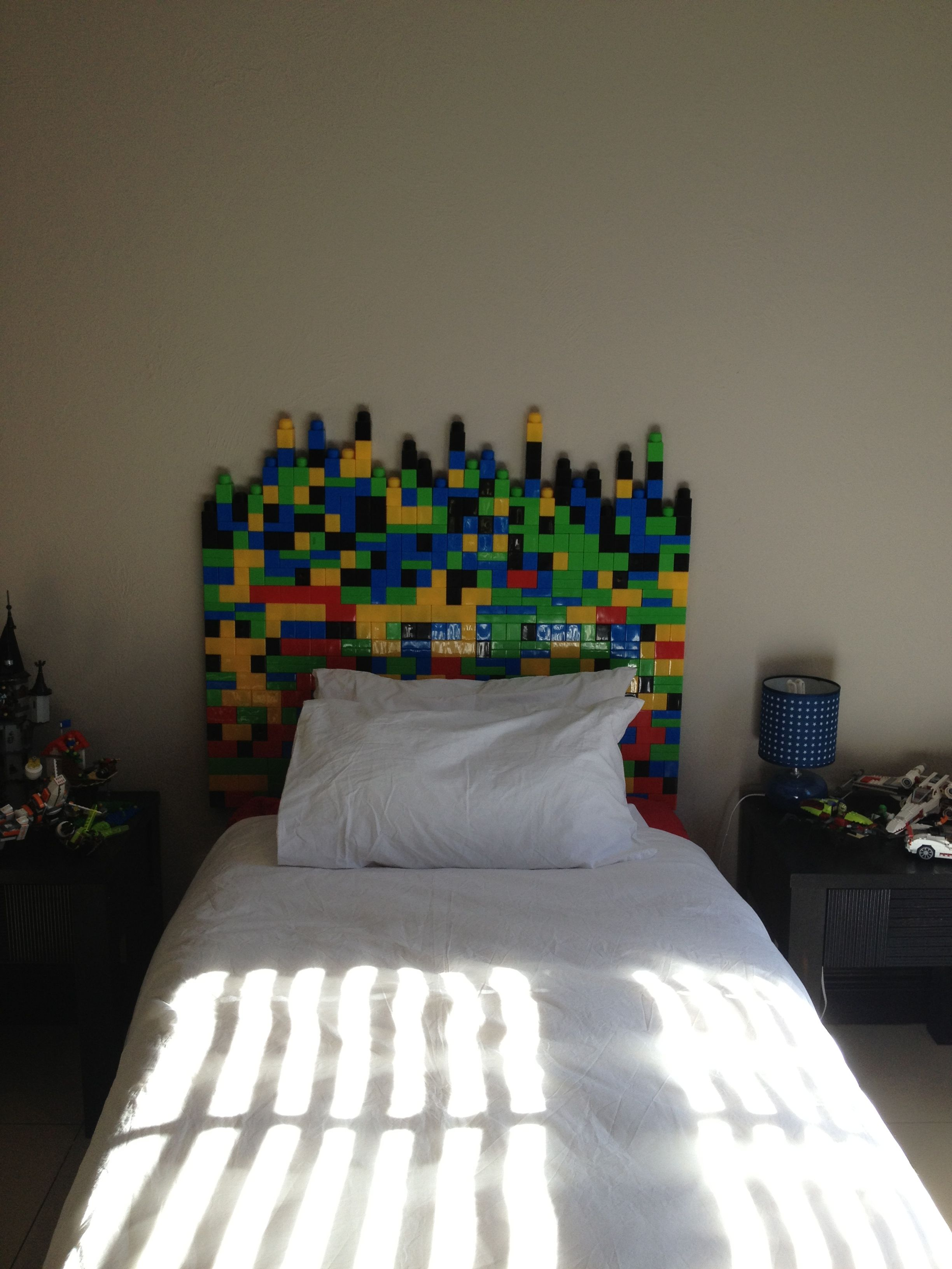 Room 2 Build Bedroom Kids Lego: Lego Headboard! My Son Is Obsessed With Lego So I Made