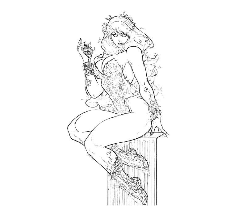 poison ivy coloring pages adult coloring pages ivy coloring pages printable - Batman Arkham City Coloring Pages