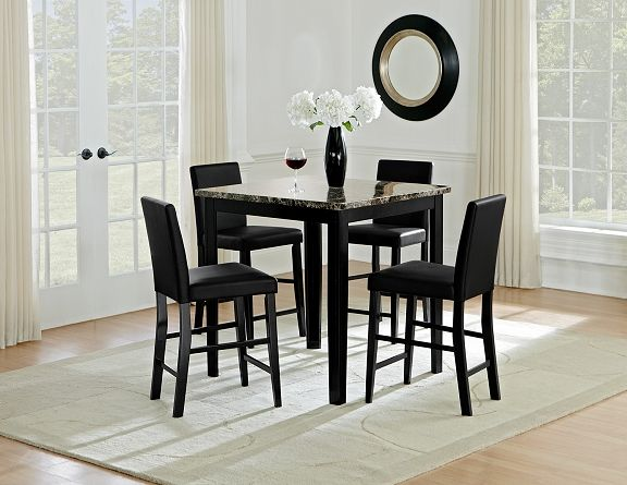 Shadow Ii Dining Room Collection Value City Furniture 5 Pc Counter Height