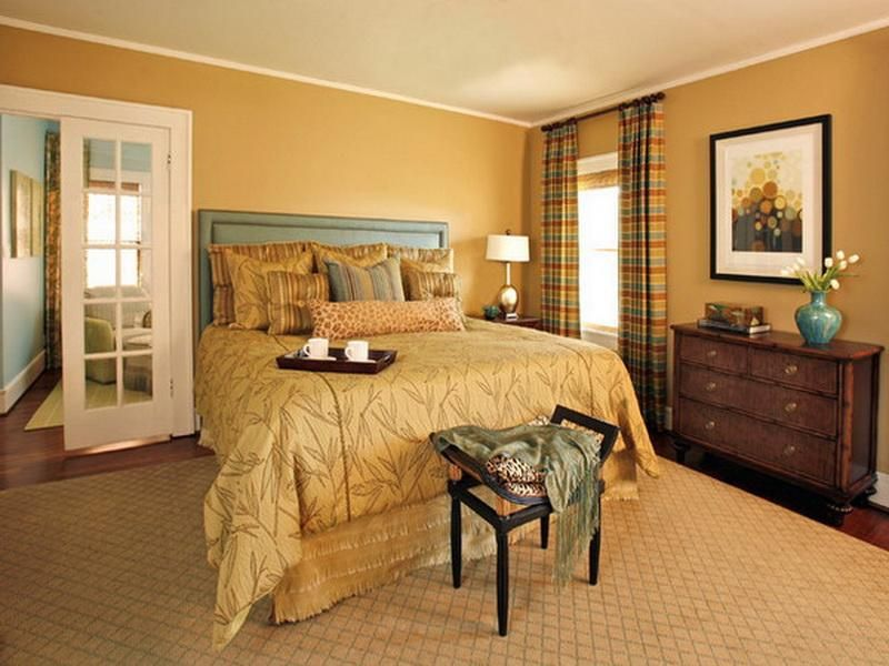 Excellent Ideas Of Earth Tone Bedroom Interior Decoration Interior Yellow Mustard Paint Colors